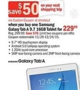 Galaxy Tab A 9.7 16GB Tablet