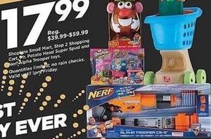 Select Toys including Shopkins Small Mart, Mr. Potato Head & More