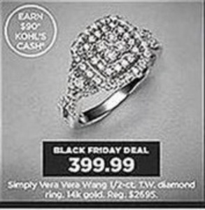 Simply Vera Wang 1/2 ct. tw. Diamond Ring