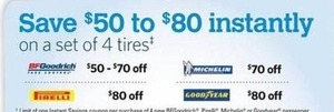 Select Brands Set of 4 Tires