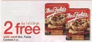 Mrs. Fields Cookies w/ Card