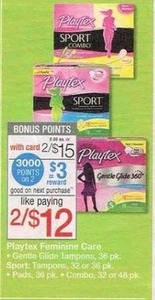 Playtex Feminine Care Items + $3 Register Rewards