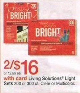 Living Solutions Light Sets w/ Card