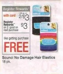 Scrunci No Damage Hair Elastics w/ Card + $3 Register Rewards