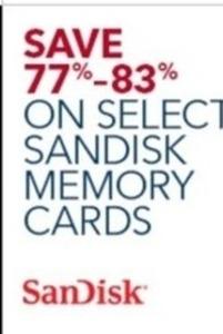 Select Sandisk Memory Cards