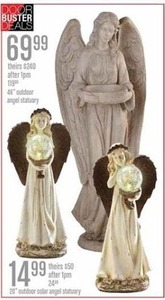 "20"" Outdoor Solar Angel Statuary"