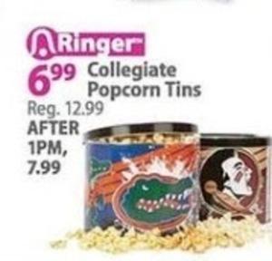 Collegiate Popcorn Tins