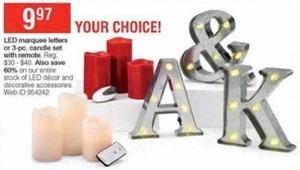 Entire Stock of LED Decor and Decorative Accessories