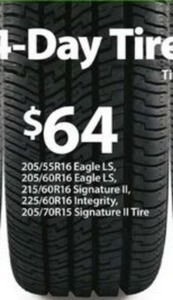 Select Goodyear Tires