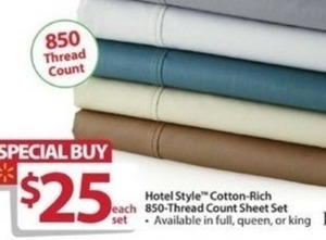 Hotel Style Cotton-Rich 850-Thread Count Sheet Set
