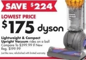 Dyson Lightweight and Compact Upright Vacuum (Refurbished)