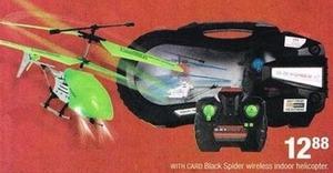 Black Spider Wireless Indoor Helicopter
