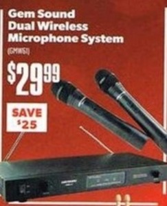 Gem Sound Dual Wireless Microphone System