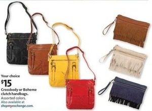 Crossbody or Boheme Clutch Handbags