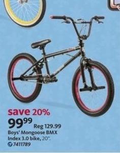 Boys' Mongoose BMX Index 3.0 Bike
