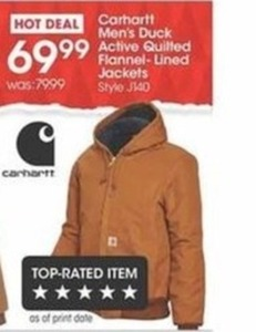 Carhartt Men's Duck Active Quilted Flannel-Lined Jackets
