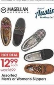 Magellan Assorted Men's or Women's Slippers