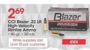 CCI Blazer .22 LR High-Velocity Rimfire Ammo