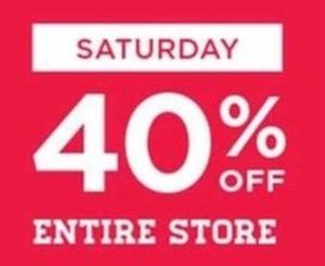 Entire Store - Saturday
