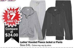 Women's Hooded Fleece Jacket or Pants
