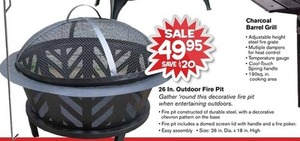"""26"""" Outdoor Fire Pit"""