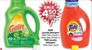 Gain or Tide Laundry Detergent