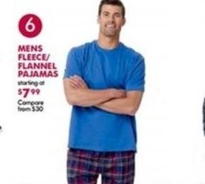 Mens Fleece/Flannel Pajamas