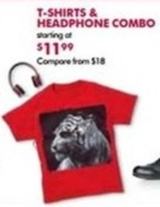 T-Shirt & Headphone Combo