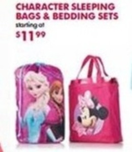Character Sleeping Bags & Bedding Sets