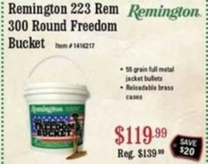 Remington 223 Rem 300 Round Freedom Bucket