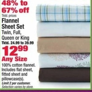Flannel Sheet Set any size