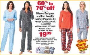Assorted Women's Designer and Fun Novelty Holiday Pajamas