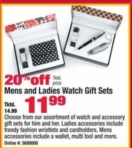 Men's and Women's Watch Gift Sets