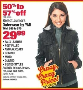Select Juniors Outerwear by YMI