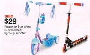Star Wars 2 or 3 Wheel Light-up Scooter