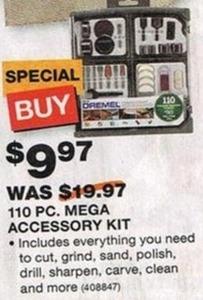 Dremel 110-PC Mega Accessory Kit