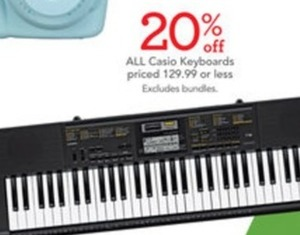 All Casio Keyboards Priced at $129.99 or Less