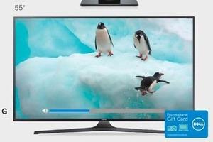 """Samsung 55"""" 4K Ultra HD Smart TV + $150 eGift Card"""