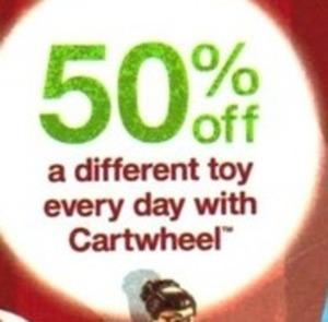 One Toy Each Day w/ Cartwheel App