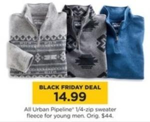 All Urban Pipeline 1/4 Zip Sweater Fleece For Young Men