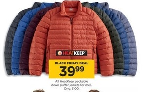 All HeatKeep Packable Down Puffer Jackets For Men