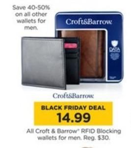 All Croft & Barrow RFID Blocking Wallets