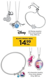 All Disney & Character Silver Plated Jewelry