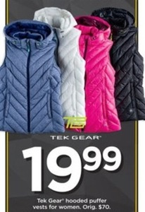 Women's Tek Gear Hooded Puffer Vests