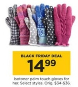 Isotoner Women's Palm Touch Gloves