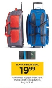 All Prodigy Rugged Gear 32-in. Multipocket Rolling Duffels