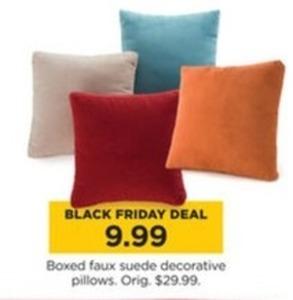 Boxed Faux Suede Decorative Pillows
