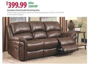 Hampton Point Double Reclining Sofa