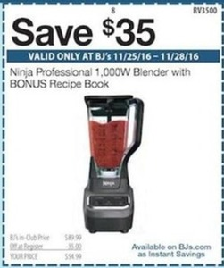 Save $35 on Ninja Professional 1000W Bender
