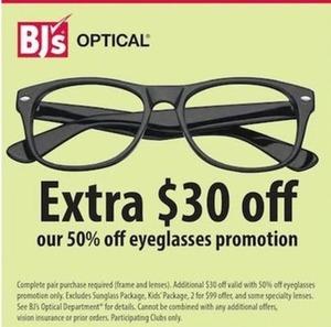 50% Off Eyeglasses Promotion